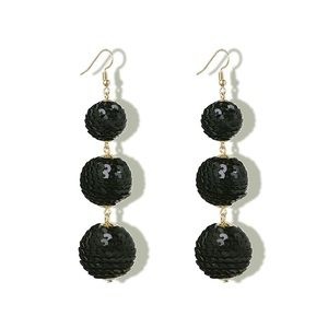 Jewelry - Sequin Wrapped Ball Drop Earrings